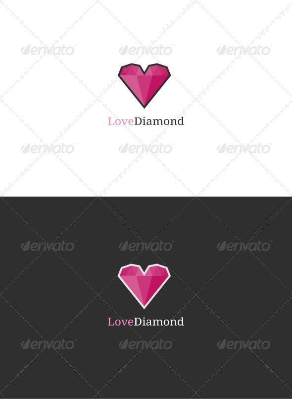 Love Diamond Logo - Objects Logo Templates