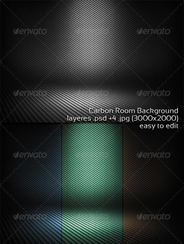 Carbon Room Background - 3D Backgrounds