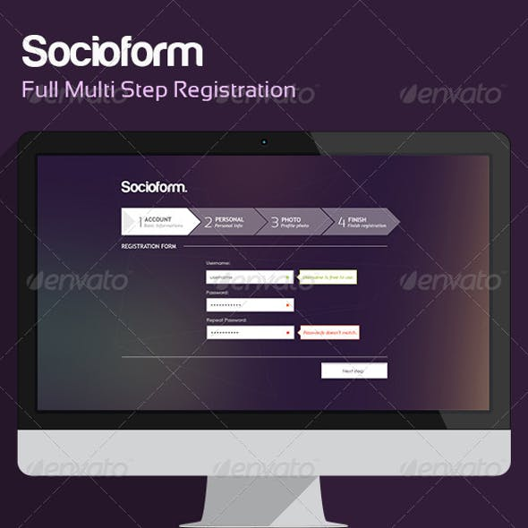 Socioform - Full Sign Up Form