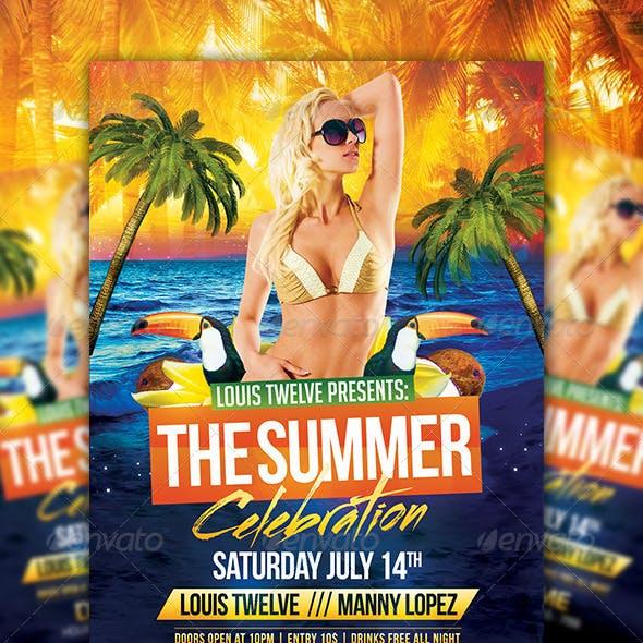 The Summer Celebration | Flyer + FB Cover