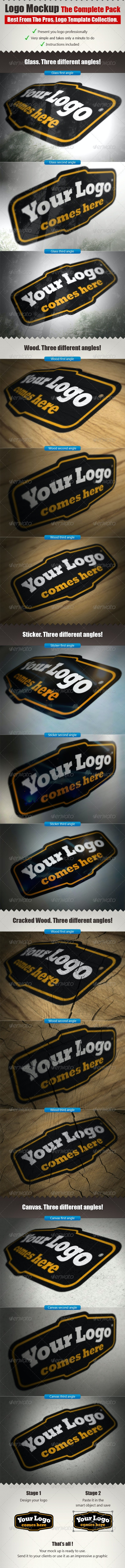 The Complete Logo Mock Ups Pack - Logo Product Mock-Ups