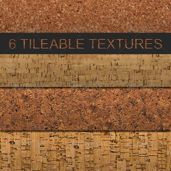 6 Tileable Cork Photoshop Texture Patterns