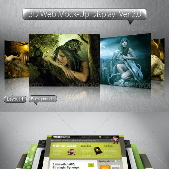 3D Web Mock-Up Display Ver 2.0