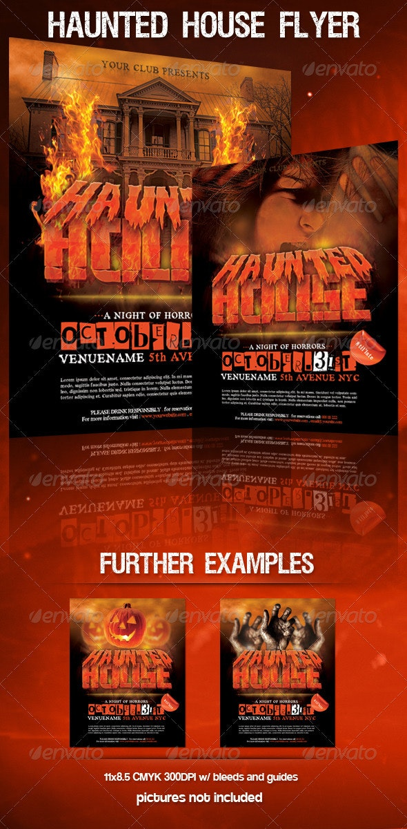 Haunted House Halloween Flyer - Holidays Events
