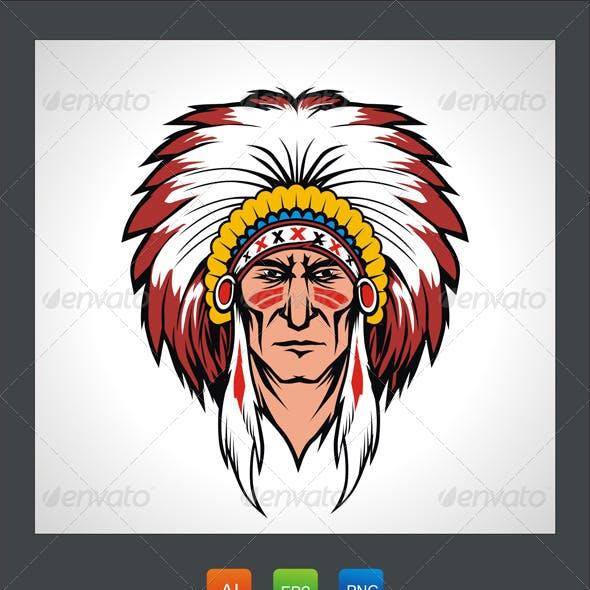 Indian Warrior Mascot
