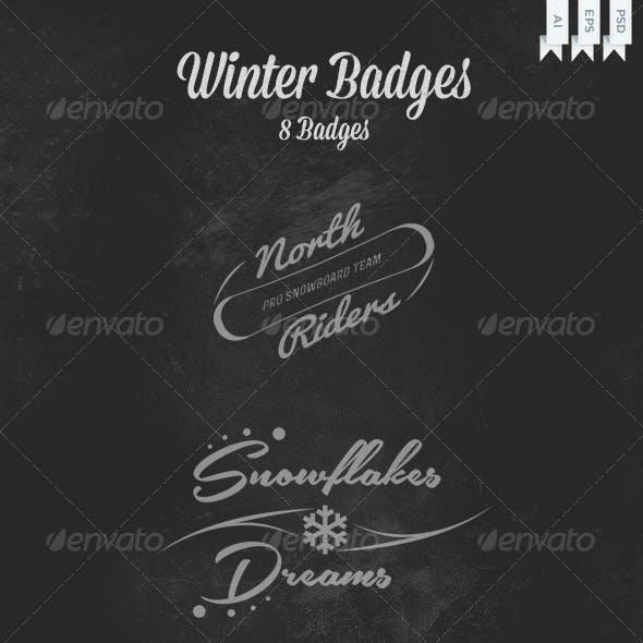 Winter Badges