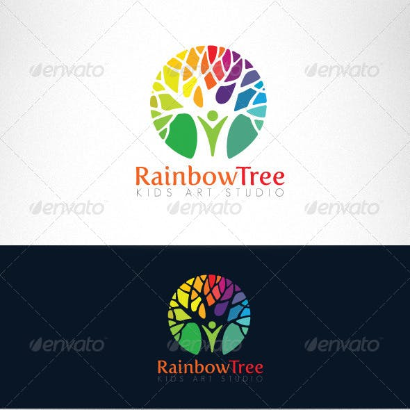 Kids Art Studio and Kindergarten Logo Template