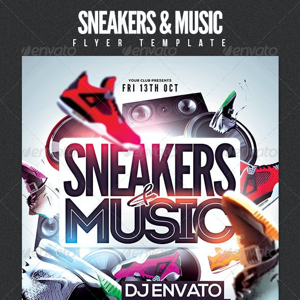 Sneakers & Music Flyer Template