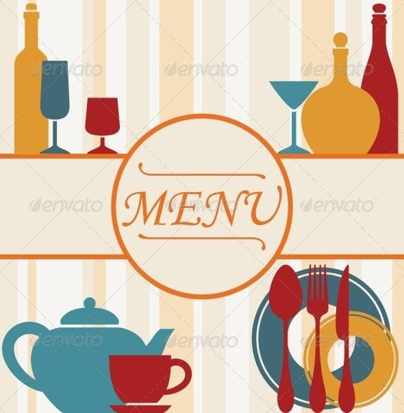 Design of Restaurant Menu Background - Miscellaneous Vectors