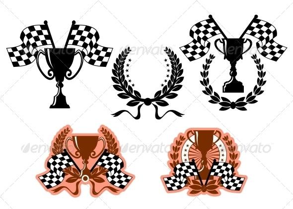 Sports Emblems and Symbols - Sports/Activity Conceptual