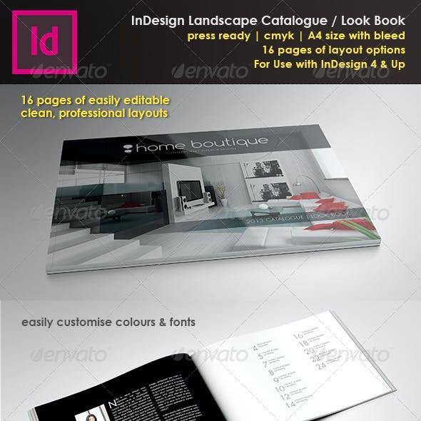 A4 Landscape Brochure/Look Book InDesign Template