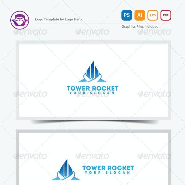 Download Tower Rocket Logo Template