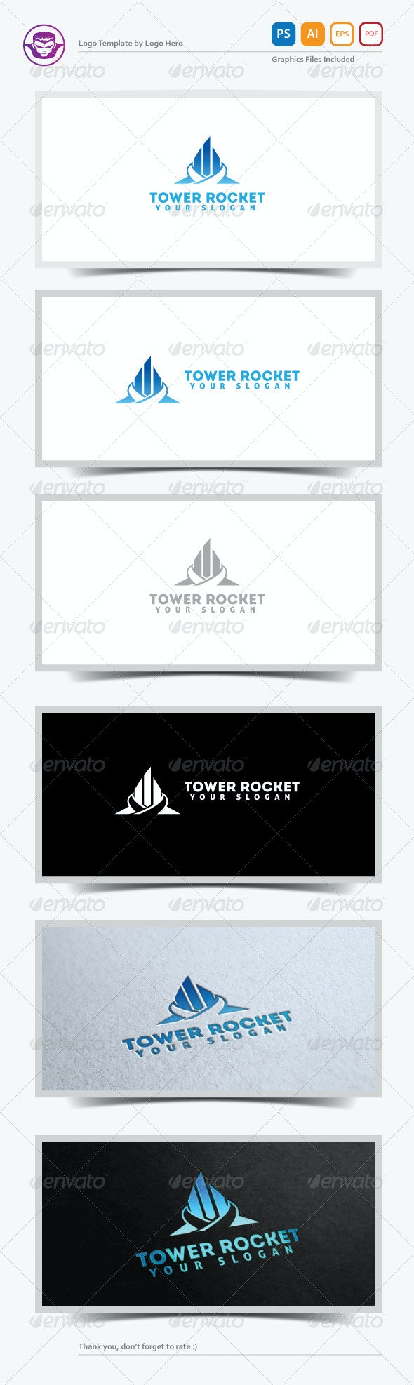 Tower Rocket Logo Template