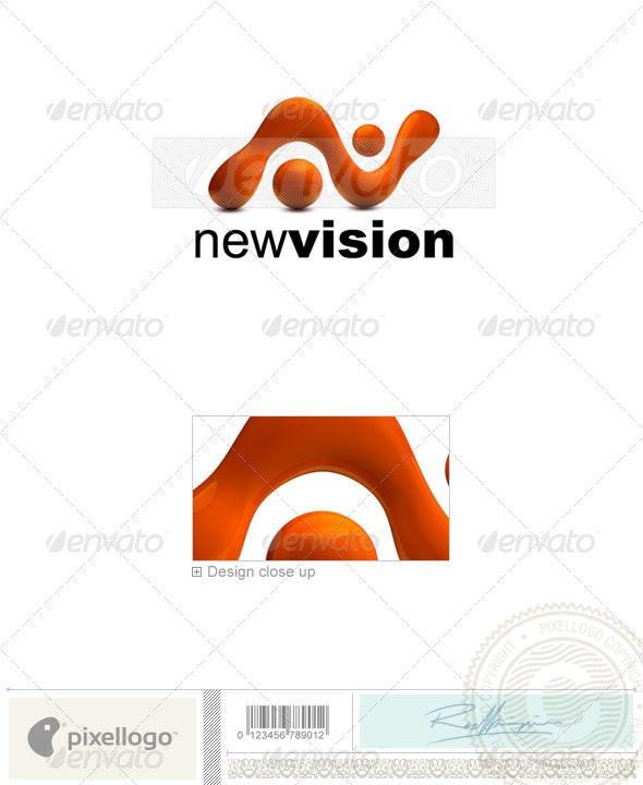 Liquid Logo 3D-745 - 3d Abstract