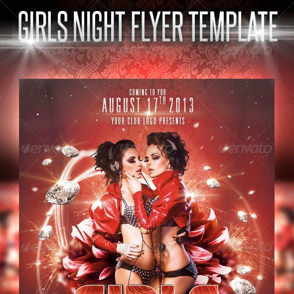 Girls Night Flyer Template