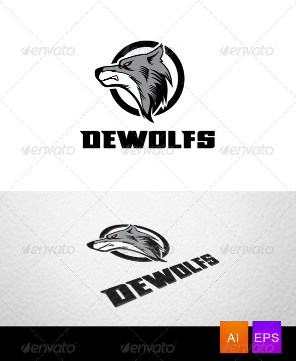 Wolf Mascot Logo Template - Animals Logo Templates
