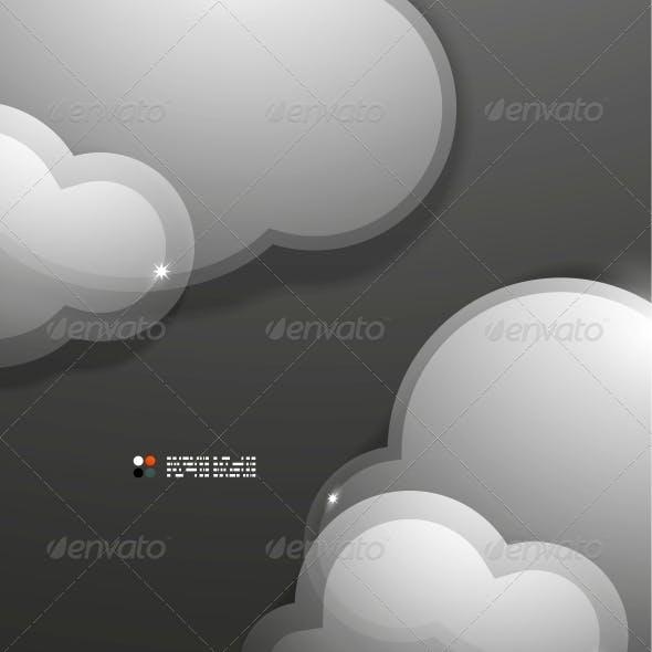 Glass 3d Clouds Template