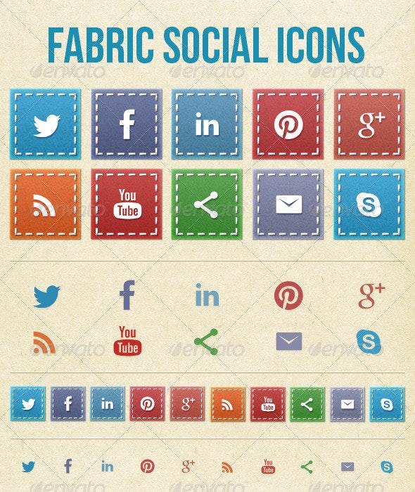 Fabric Social Media Icons - Web Icons