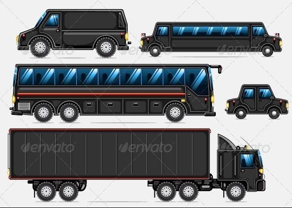 Black Transport Set
