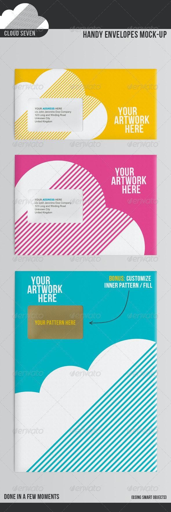 Handy Envelopes Mock Up - Stationery Print
