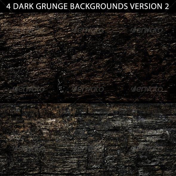 4 Dark Grunge Backgrounds Version 2