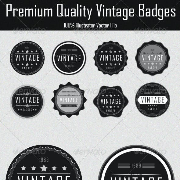 Premium Quality Vintage Badges