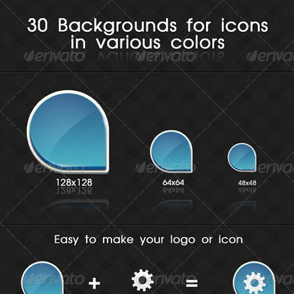 3D Backgrounds For Icons In Various Colors