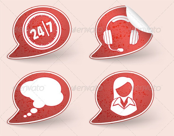 Collect Sticker with business woman and consultant - Communications Technology