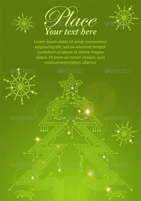 Christmas Tree from circuit board - Christmas Seasons/Holidays