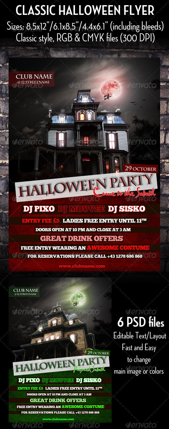 Classic Halloween Flyer - Clubs & Parties Events
