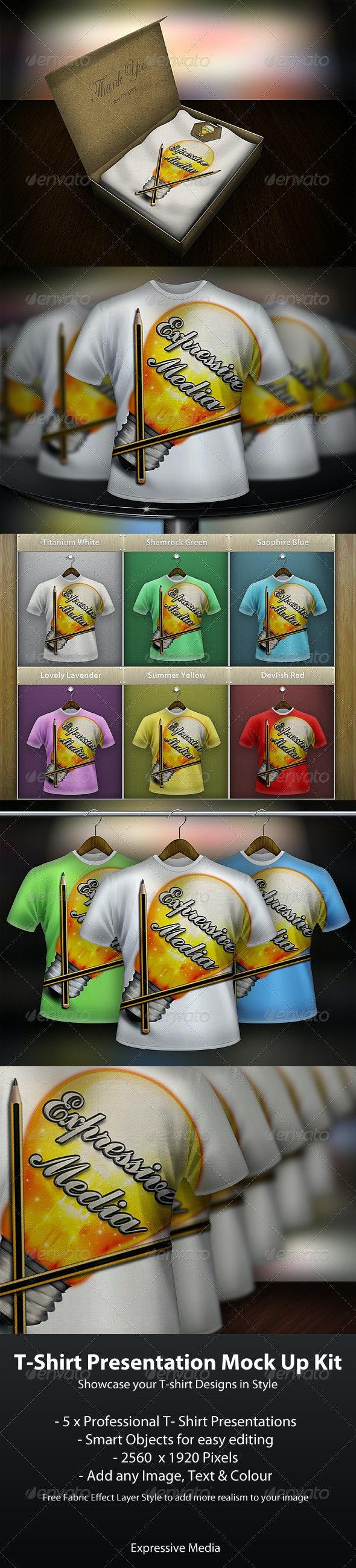 T-Shirt Presentation Mock up Kit - T-shirts Apparel