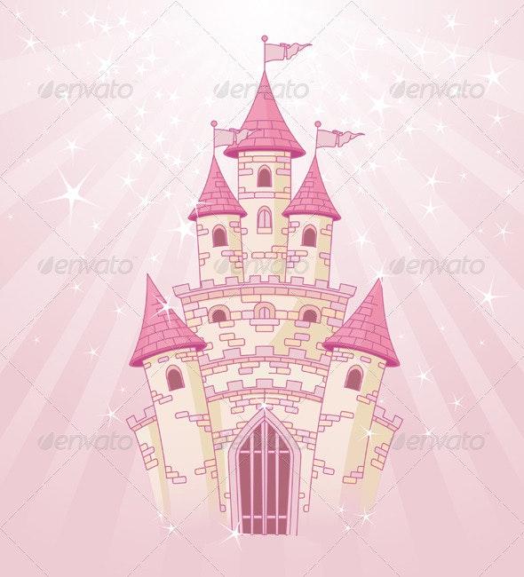 Pink Sky Castle - Buildings Objects