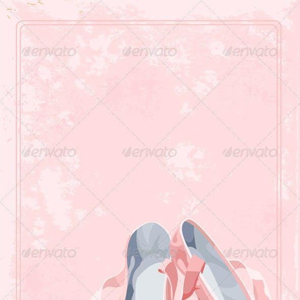 Ballet slippers background