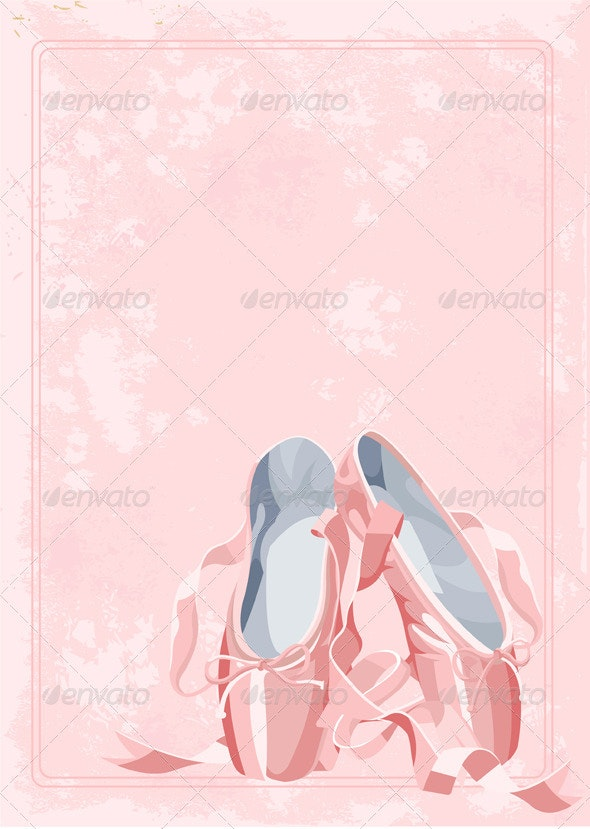 Ballet slippers background - Backgrounds Decorative