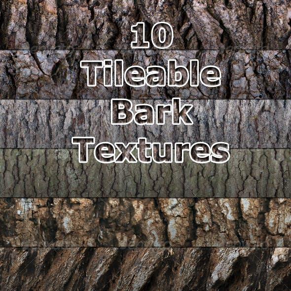 10 Seamless Tileable Bark Textures