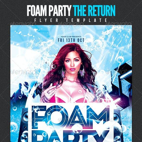 Foam Party The Return Flyer Template