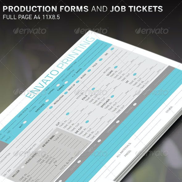 Customizable Production Sheet and Form Template
