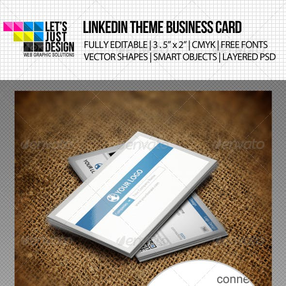 LinkedIn Social Network Business Card