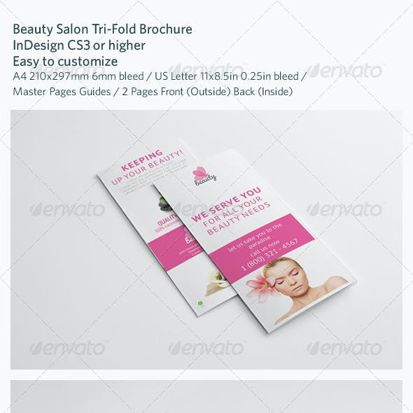 Beauty Salon Tri-Fold Brochure