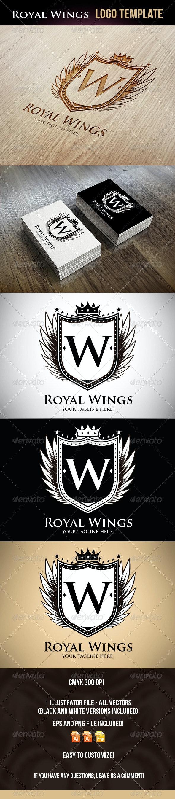 Royal Wings Logo Template - Logo Templates