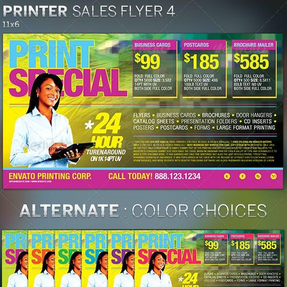 Printer Sales Flyer Template 4