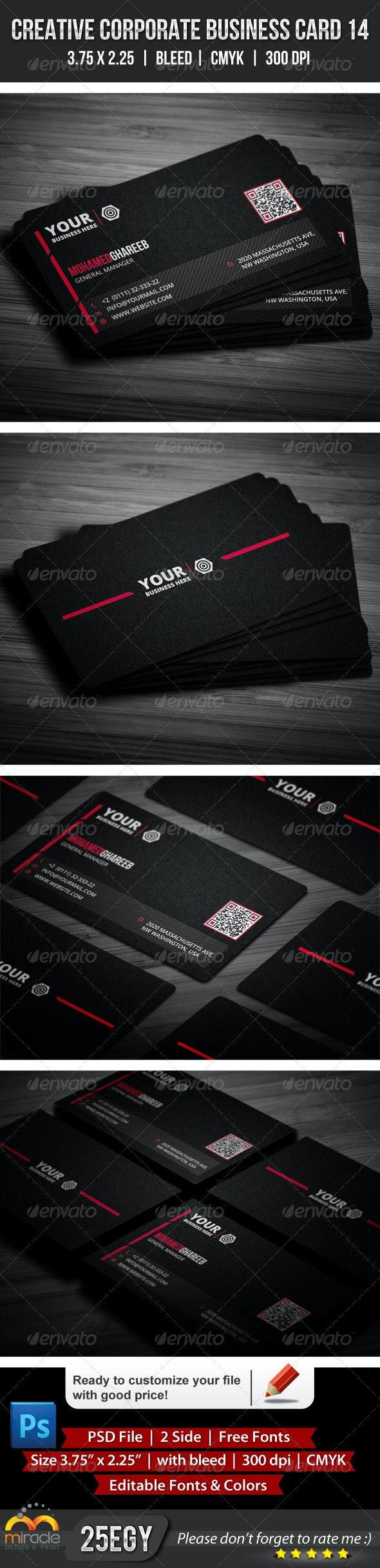 Creative Corporate Business Card 14 - Corporate Business Cards