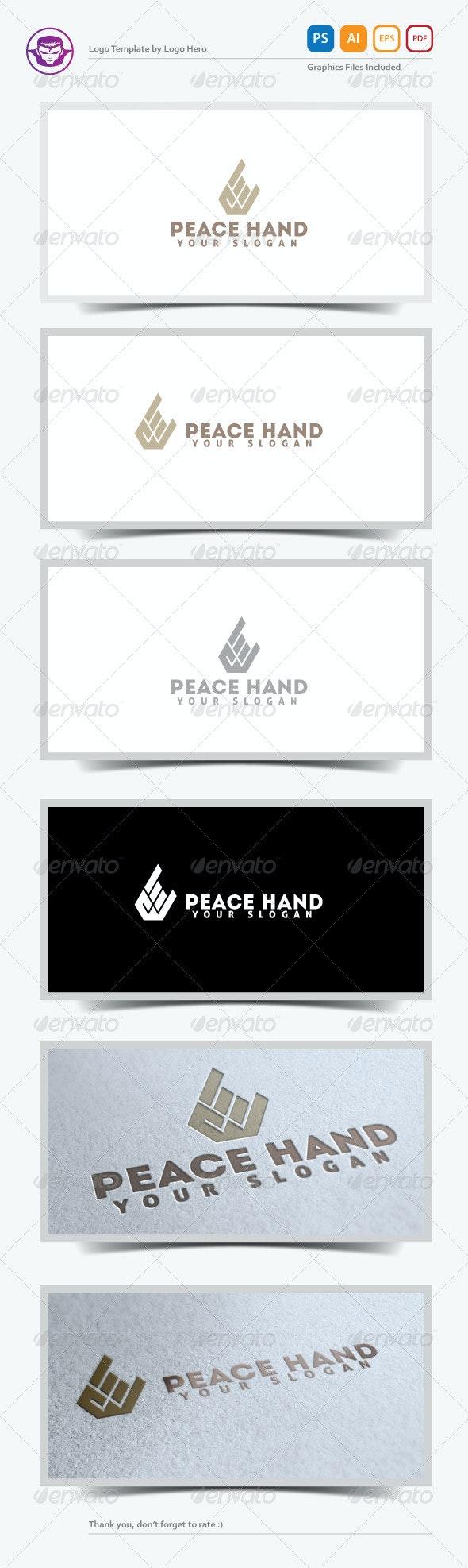 Peace Hand Logo Template
