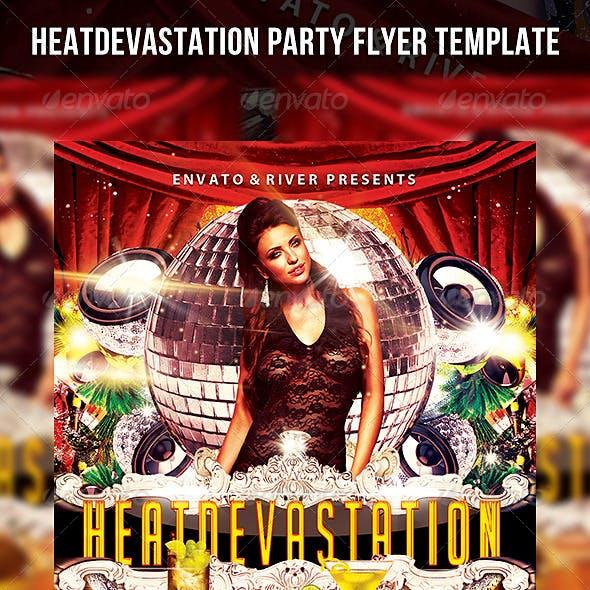 Heat Devastation Party Flyer Template
