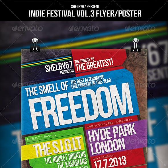 Indie Festival Flyer / Poster Vol.3