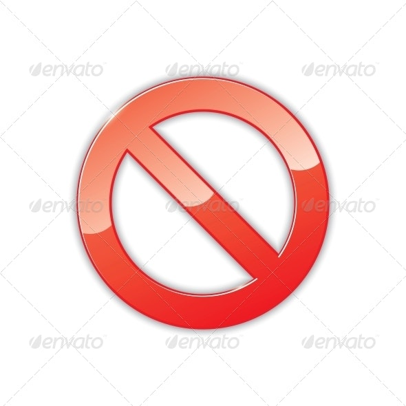 Prohibition Sign - Decorative Symbols Decorative