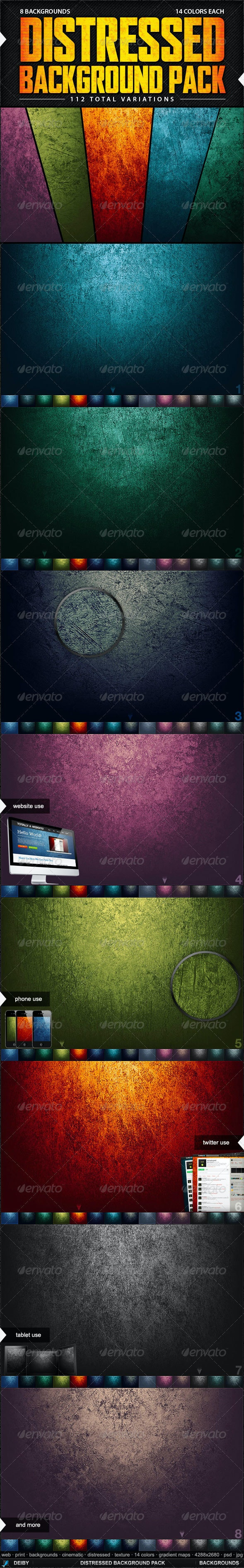 Distressed Background Pack - Backgrounds Graphics