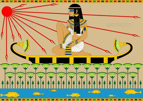 Egyptian Girl on a Boat
