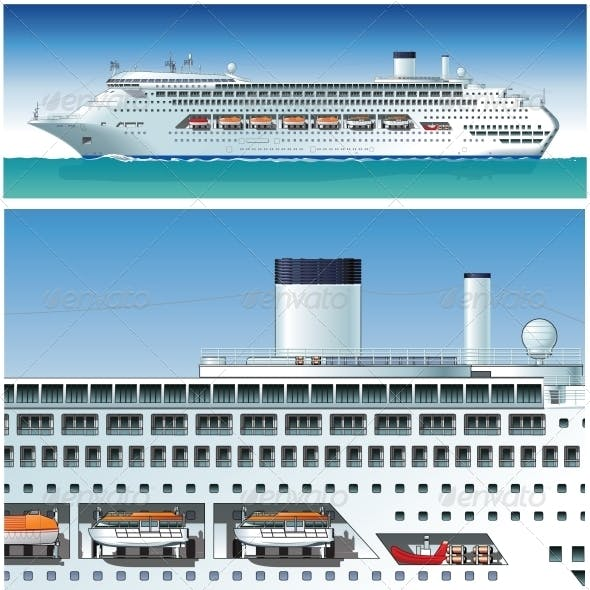 Highly Detailed Cruise Ship