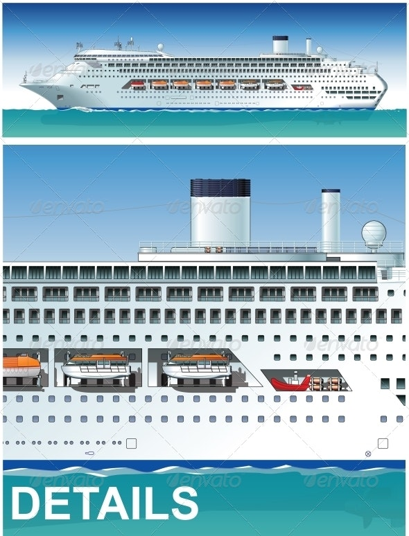 Highly Detailed Cruise Ship - Travel Conceptual